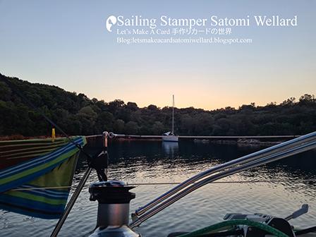 Life on Sailing Boat SATOMI on Meganisi Island in Greece  by Sailing Stamper Satomi Wellardギリシアでの船上生活メガニシ島