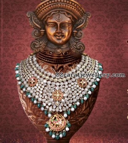Grand Kundan Set by Kalasha Jewels