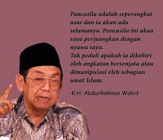 Negara Indonesia vs Negara Agama - Menurut Pendapat Gus Dur