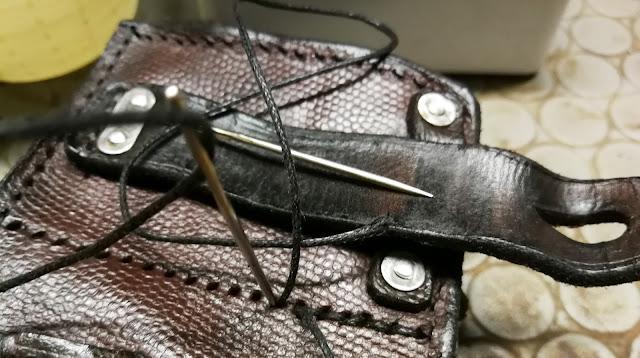 restauro giberna mauser k98 cartdrige bag pouch restoration cuoio leather