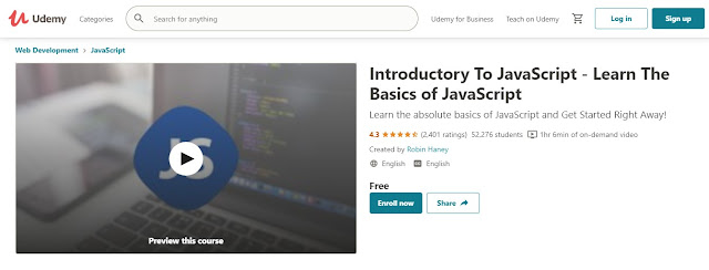 best JavaScript course for free