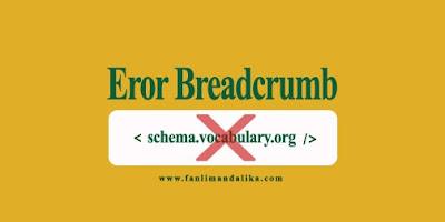 Cara Memperbaiki Eror Breadcrumb di Google Search Console