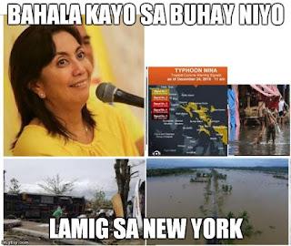 tsinelas ni Leni, Leni Lugaw, Leni Robredo, VP Leni, VP Robredo, Philippines politics, typhoo, super typhoon Nina