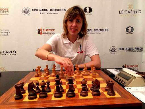 Tatiana Kostiuk, grand maître féminin d'échecs joue pour l'équipe de Monaco - Photo © Echecs & Stratégie
