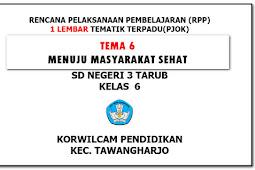 RPP PJOK PENJASORKES SD/MI Kelas 6 (RPP 1 Lembar) Semester 2
