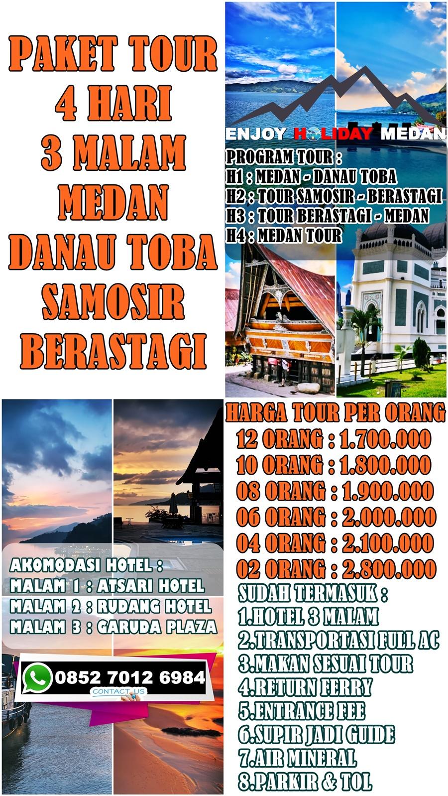 4H3M Paket Tour Medan Danau Toba