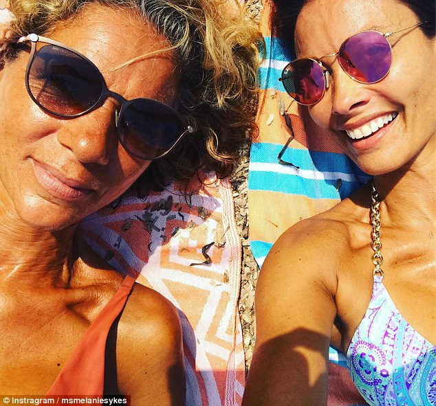 Melanie Sykes, 47, shows off her youthful figure in sizzling swimwear