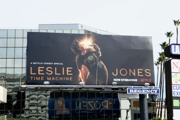 Leslie Jones Time Machine billboard
