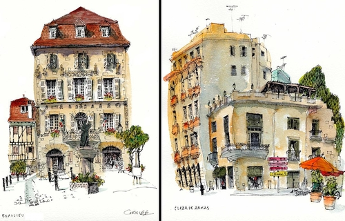 00-Chris-Lee-Charming-Architectural-wobbly-Drawings-and-Paintings-www-designstack-co