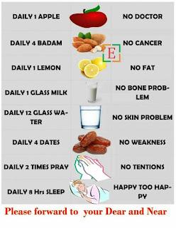 स्वास्थ्य दिनचर्या