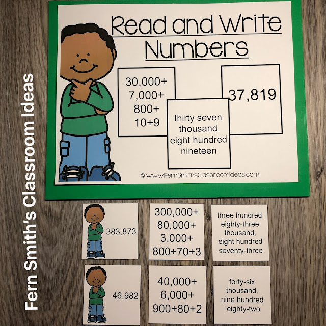 Click Here to Download This 4th Grade Go Math 1.2 Read and Write Numbers Center Games Today!