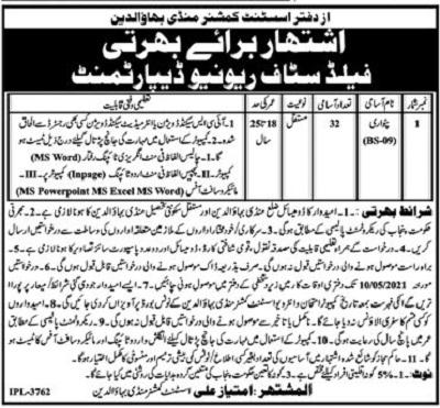 revenue-department-mandi-bahauddin-patwari-jobs-2021