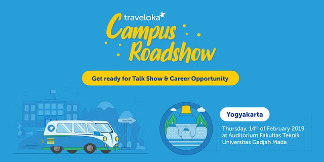 traveloka jogja, traveloka campus roadshow jogja, traveloka ugm, traveloka campus ugm