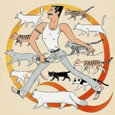 Freddie Mercury amaba a sus gatos