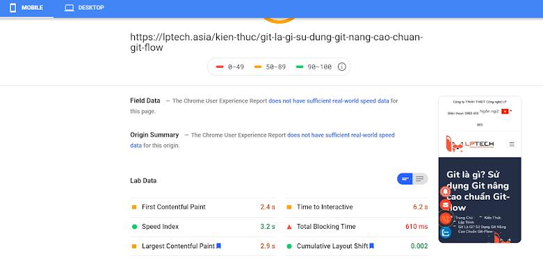 Google pagespeed Insight