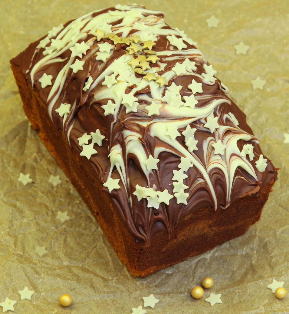 Christmas Loaf Cake Decoration : Kitchen Delights: Christmas Chocolate Marble Loaf Cake