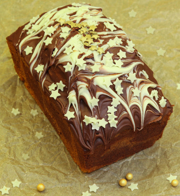 Christmas Chocolate Marble Loaf Cake