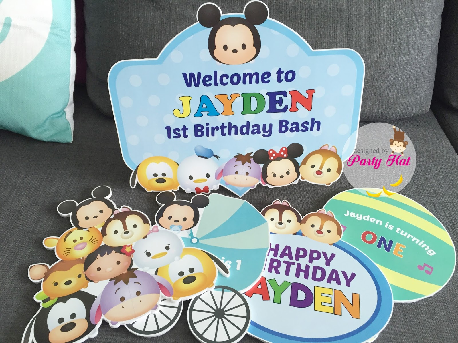 Disney Tsum 1 Year Old Birthday For Jayden