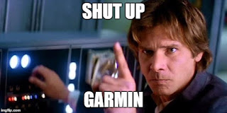 Star Wars Han Solo getting angry at my Garmin running watch.