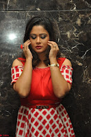 Shilpa Chakravarthy looks super cute in Red Frock style Dress 012.JPG