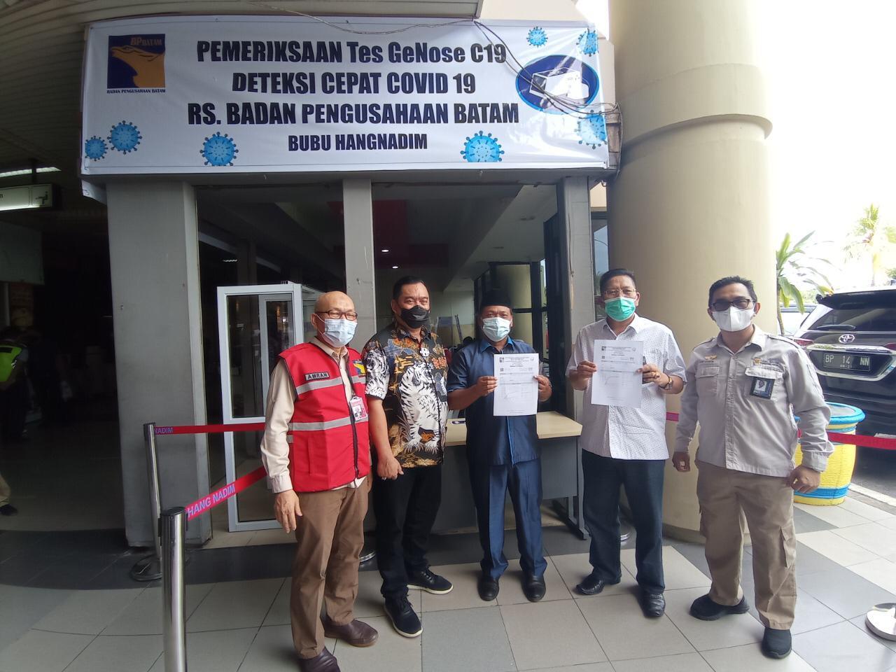 Komisi III DPRD Kepri Sidak Penerapan GeNose C-19 di Bandara Hang Nadim