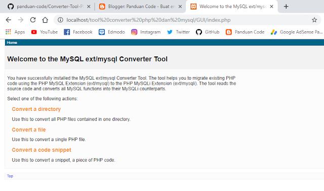 Tool Converter PHP Dan MySQL
