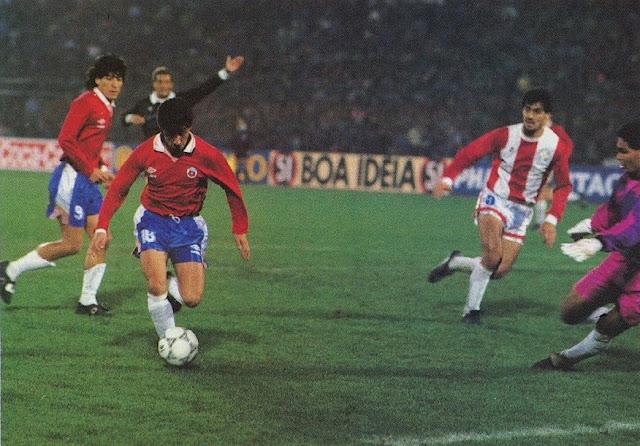 Chile y Paraguay en Copa América 1991, 14 de julio