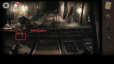 подбираем лом и продолжаем движение в игре выход из заброшенной шахты