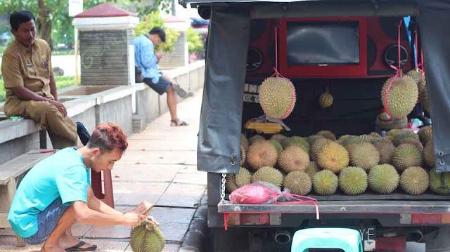 permintaan buah durian majalengka belum penuhi pasar
