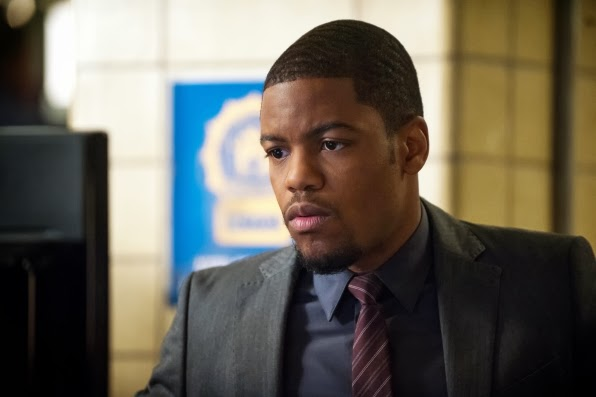 Jon Michael Hill as Detective Marcus Bell in CBS Elementary Season 2 Episode 13 All in the Family