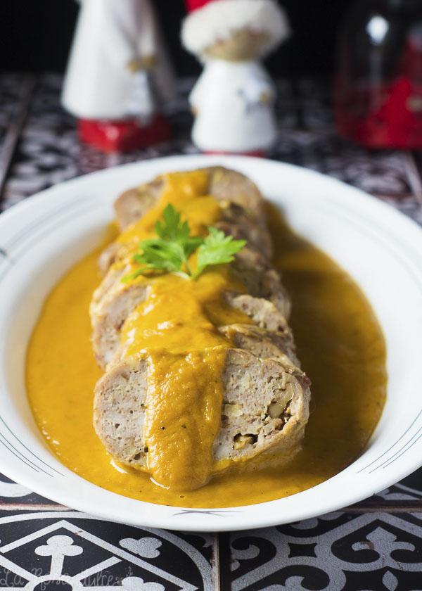 Rollitos de pollo en salsa española facil #sinlactosa
