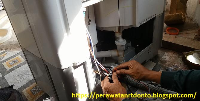 Mengukur kabel motor mesin cuci