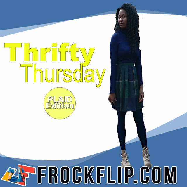 Thrifty Thursday How to wear Plaid www.frockflip.com
