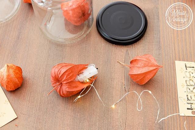 Herbstdeko mit Lampionblumen basteln