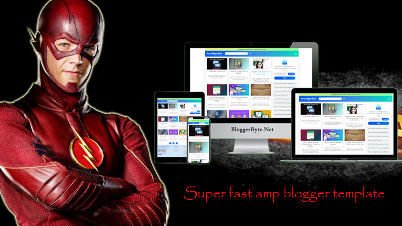 Superfast Amp Blogger Template