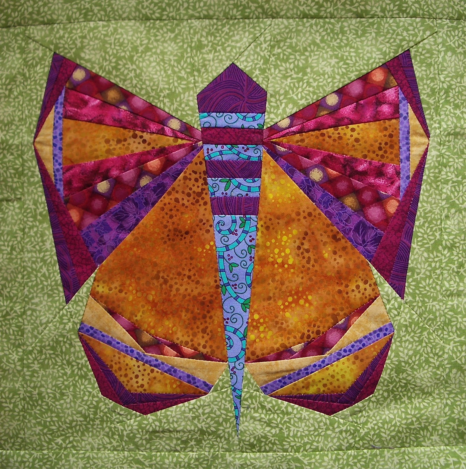 Handicrafty Sisters Paper Pieced Butterfly