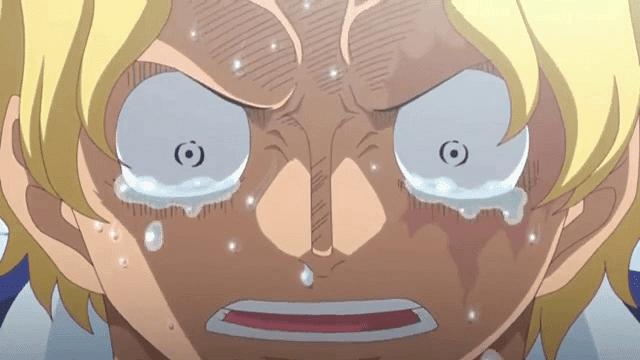 sabo tak kuasa menahan tangisnya ketika tahu ace sudah mati