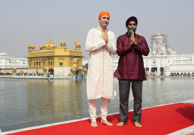 Justin Trudeau posing as a Sikh