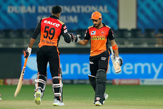 RR vs SRH 40th Match IPL 2020 Highlights
