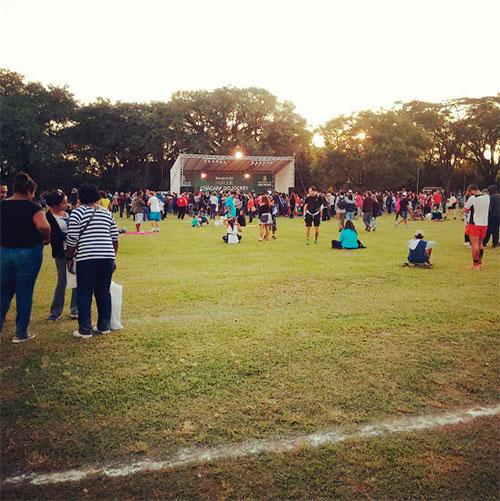 Evento de inauguração do Parque Chácara do Jockey