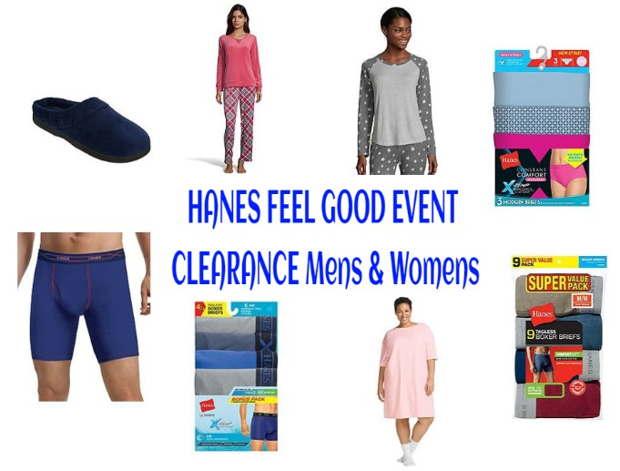 HANES  FEEL GOOD EVENT CLEARANCE Mens & Womens Clothing