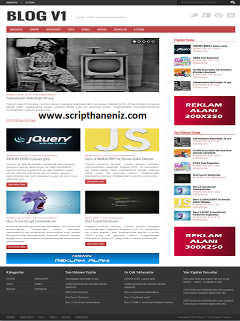 PHP Blog Scripti İndir