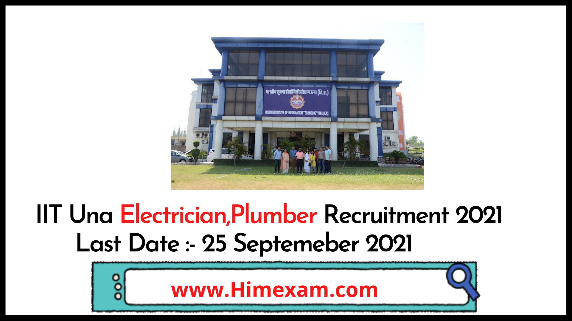 IIIT Una Electrician,Plumber Recruitment 2021
