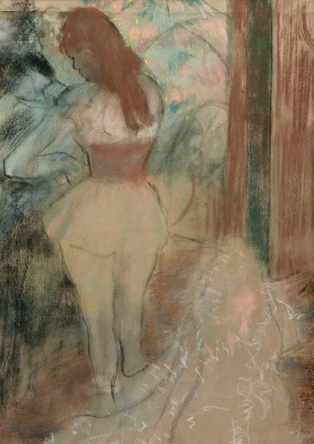 Эдгар Дега - Одевание танцовщицы (1889)
