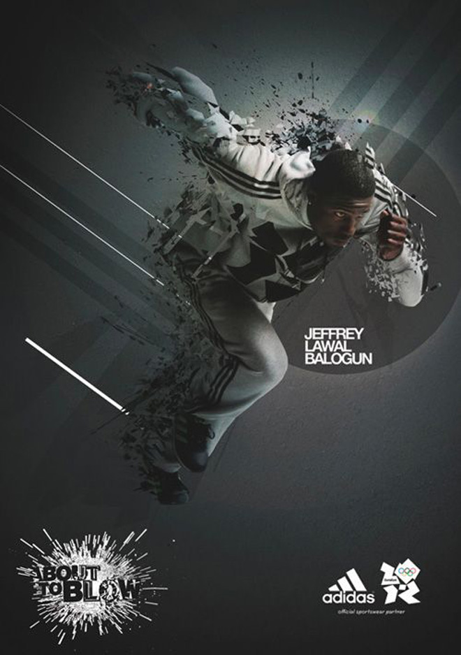 New Adidas poster design featuring Jeffrey Lawal Balogun
