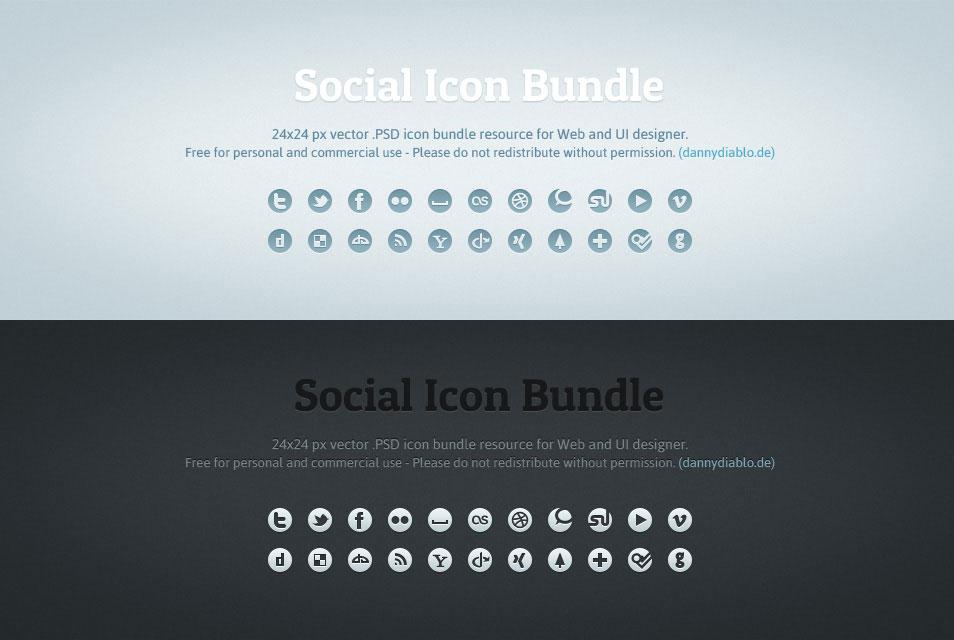 500 Iconos de redes sociales gratis