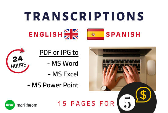 Perfectly Transcribe any files to doc xls pptx error free -Writing & Translation - Transcripts