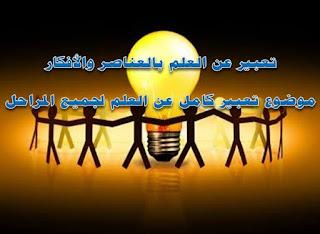 تعبير عن العلم بالعناصر والأفكار موضوع تعبير كامل عن العلم
