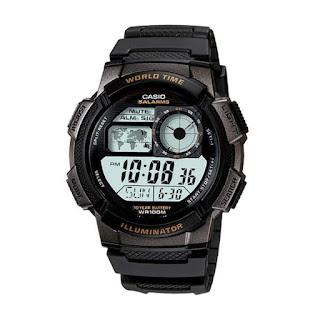 Casio Digital AE-1000W-1AVDF warna hitam