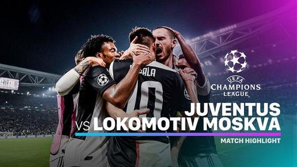 Cuplikan Gol Liga Champions Juventus vs Lokomotiv Moskow 2-1